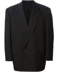 Blazer croisé en laine noir Comme des Garcons