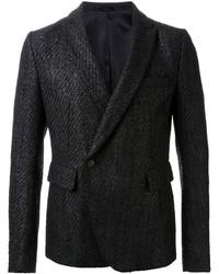Blazer croisé en laine noir Haider Ackermann