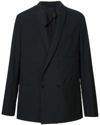 Blazer croisé en laine noir Lemaire