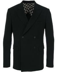 Blazer croisé en laine noir Tonello