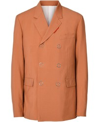 Blazer croisé en laine orange Burberry