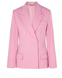 Blazer croisé en laine rose Stella McCartney