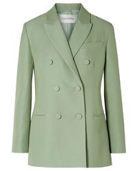 Blazer croisé en laine vert menthe Valentino