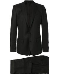 Blazer croisé en soie noir Dolce & Gabbana