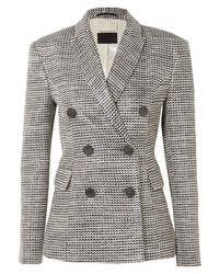 Blazer croisé en tweed gris By Malene Birger