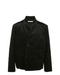 Blazer croisé en velours côtelé noir SASQUATCHfabrix.
