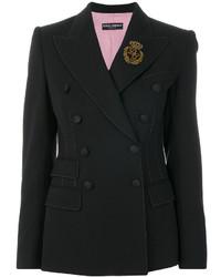 Blazer croisé noir Dolce & Gabbana