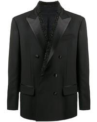 Blazer croisé noir Versace