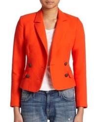Blazer croisé orange
