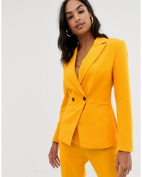 Blazer croisé orange ASOS DESIGN