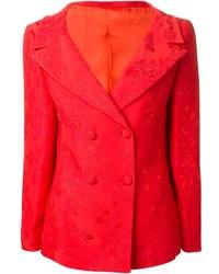 Blazer croisé rouge Versace