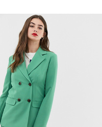 Blazer croisé vert Asos Tall
