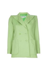 Blazer croisé vert Yves Saint Laurent Vintage