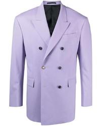 Blazer croisé violet clair Versace
