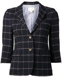 Blazer écossais bleu marine Boy By Band Of Outsiders