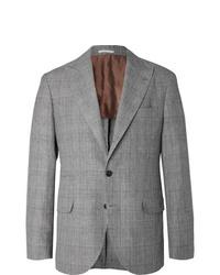 Blazer écossais gris Brunello Cucinelli