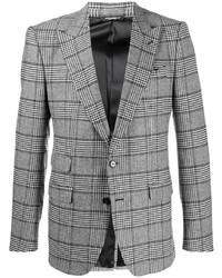 Blazer écossais gris Dolce & Gabbana