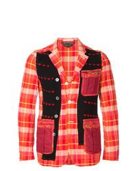 Blazer écossais rouge Comme Des Garçons Vintage