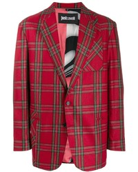 Blazer écossais rouge Just Cavalli