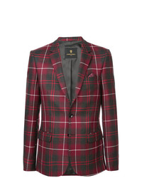 Blazer écossais rouge Lords And Fools