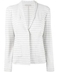 Blazer en coton à rayures horizontales blanc Le Tricot Perugia