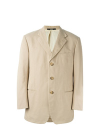 Blazer en coton beige Gianfranco Ferre Vintage