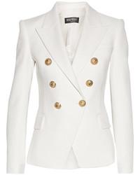Blazer en coton blanc Balmain