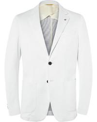 Blazer en coton blanc Canali