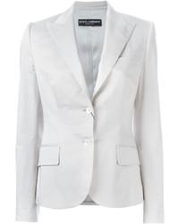 Blazer en coton blanc Dolce & Gabbana
