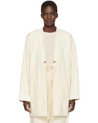 Blazer en coton blanc LAUREN MANOOGIAN