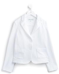 Blazer en coton blanc Simonetta