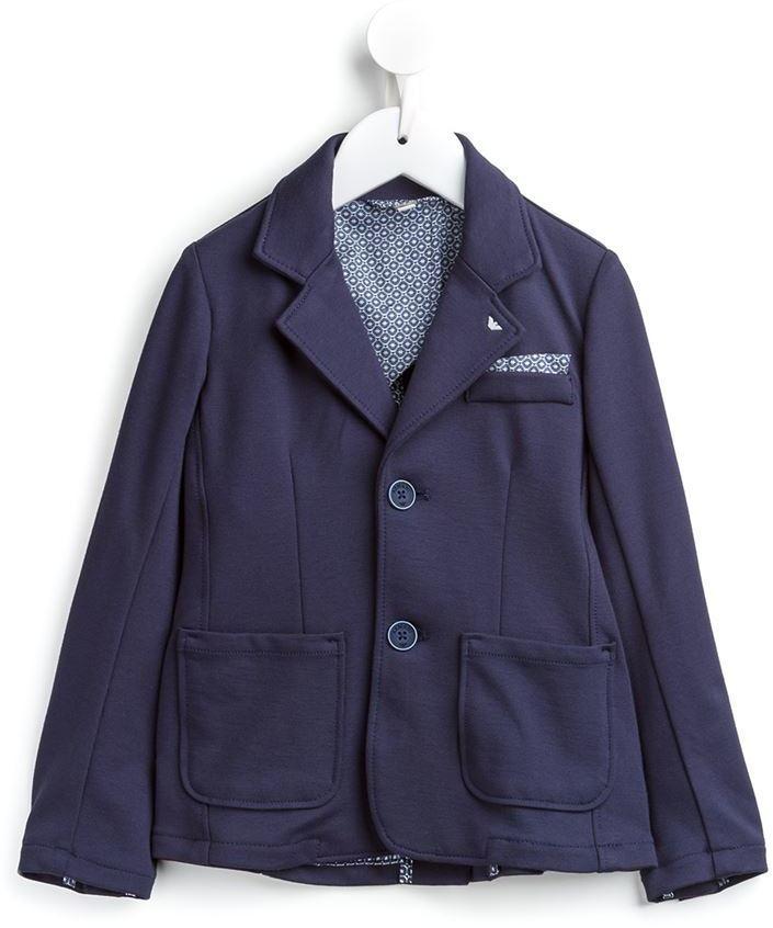 Blazer en coton bleu marine Armani Junior