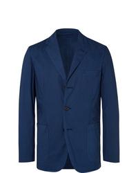 Blazer en coton bleu marine Aspesi