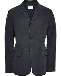 Blazer en coton bleu marine Margaret Howell