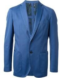 Blazer en coton bleu
