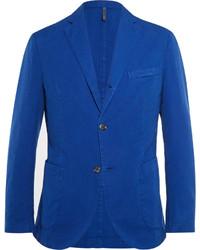 Blazer en coton bleu Incotex