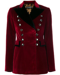 Blazer en coton bordeaux Dolce & Gabbana