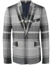 Blazer en coton écossais gris foncé Vivienne Westwood