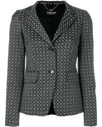 Blazer en coton géométrique noir Twin-Set