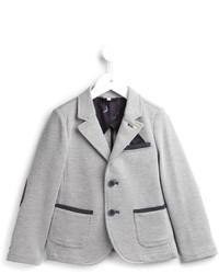 Blazer en coton gris Armani Junior