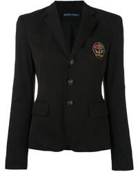 Blazer en coton noir Ralph Lauren