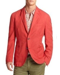 Blazer en coton rouge