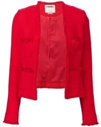 Blazer en coton rouge L'Agence