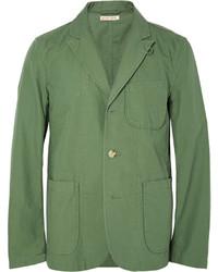 Blazer en coton vert