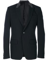 Blazer en cuir à clous noir Givenchy