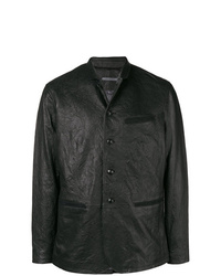Blazer en cuir noir John Varvatos