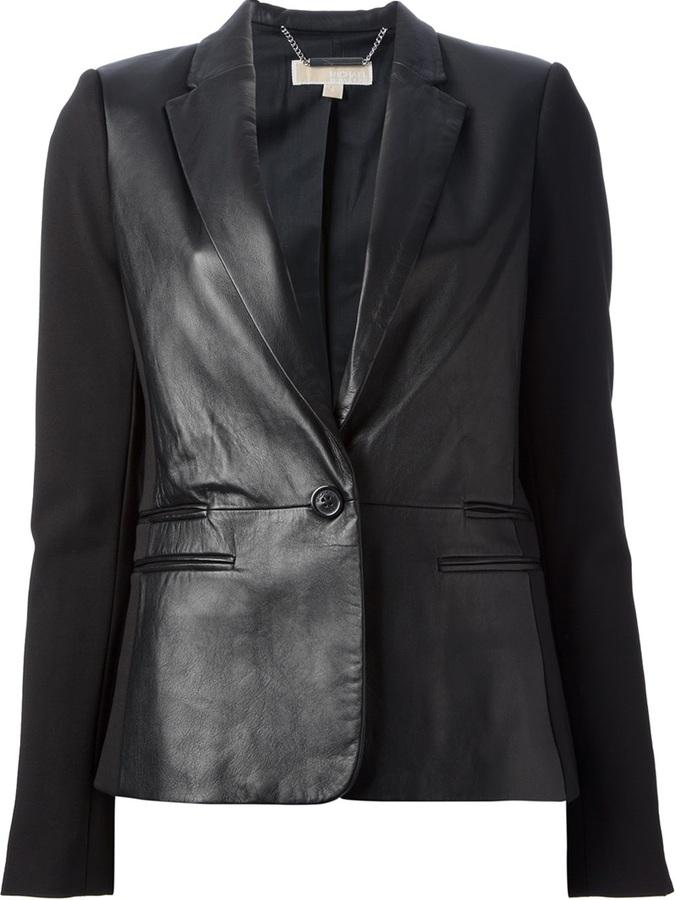 Blazer en cuir noir MICHAEL Michael Kors
