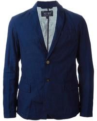 Blazer en denim bleu marine Armani Jeans