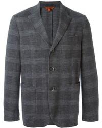 Blazer en laine à carreaux gris Barena
