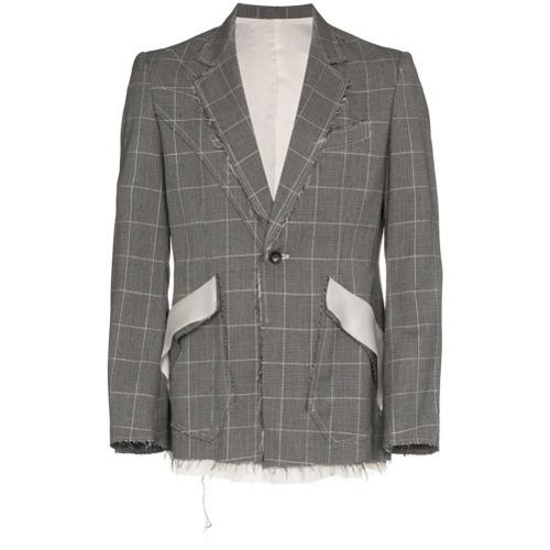 Blazer en laine à carreaux gris Sulvam